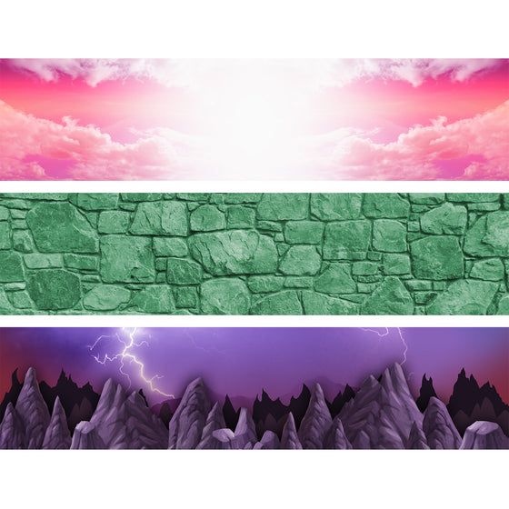 MASTERS OF THE UNIVERSE - Backdrop Inserts for CLASSIC Display Geek Shelves (Limited Edition) - Display Geek