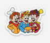 "Boy Trio Sticker  (2"" x 1.51) - Display Geek"