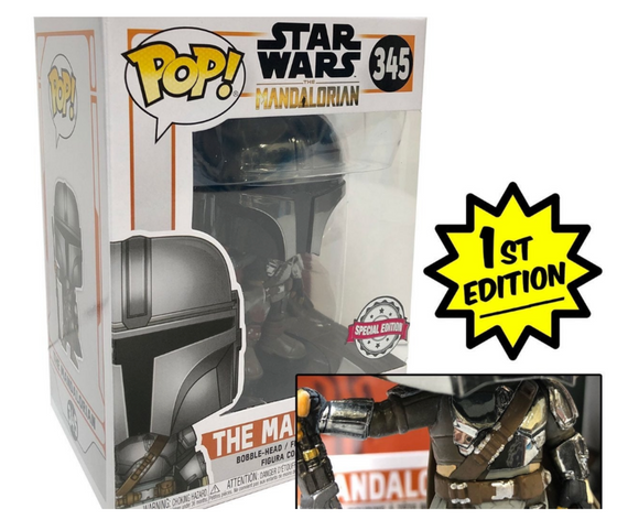 The Mandalorian FULL CHROME (Special Edition) Star Wars Funko Pop