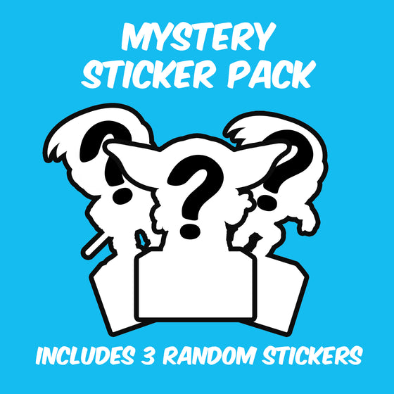 Display Geek Mystery Sticker Pack, Includes 3 Random Stickers - Display Geek