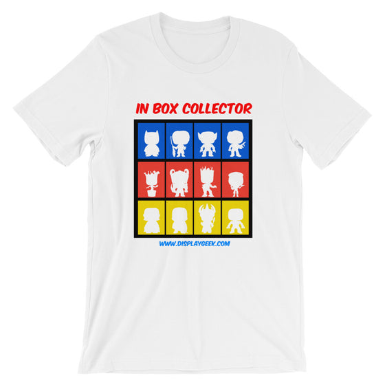 Display Geek In Box Collector Unisex short sleeve t-shirt