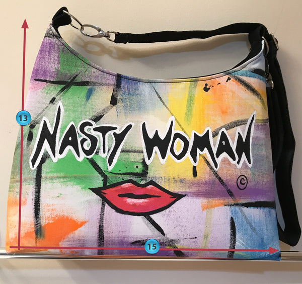 Wow! Nasty Woman Shoulder Handbag - POLITICAL