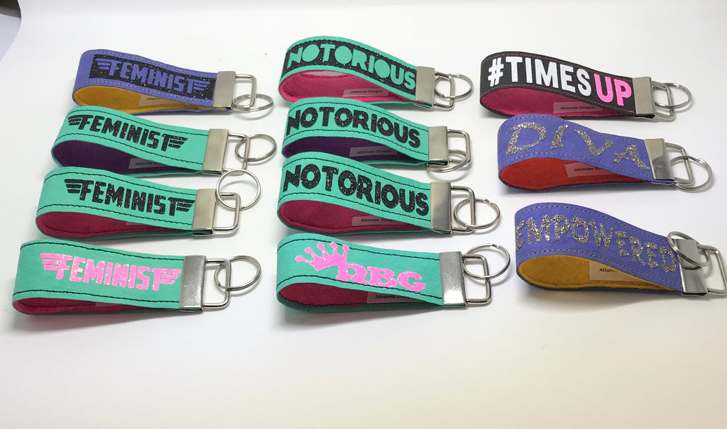 Political Statement Key Ring FOB holders - Many varieties