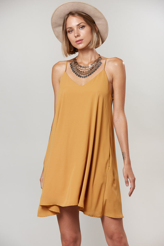 Sleeveless Solid Woven Dress