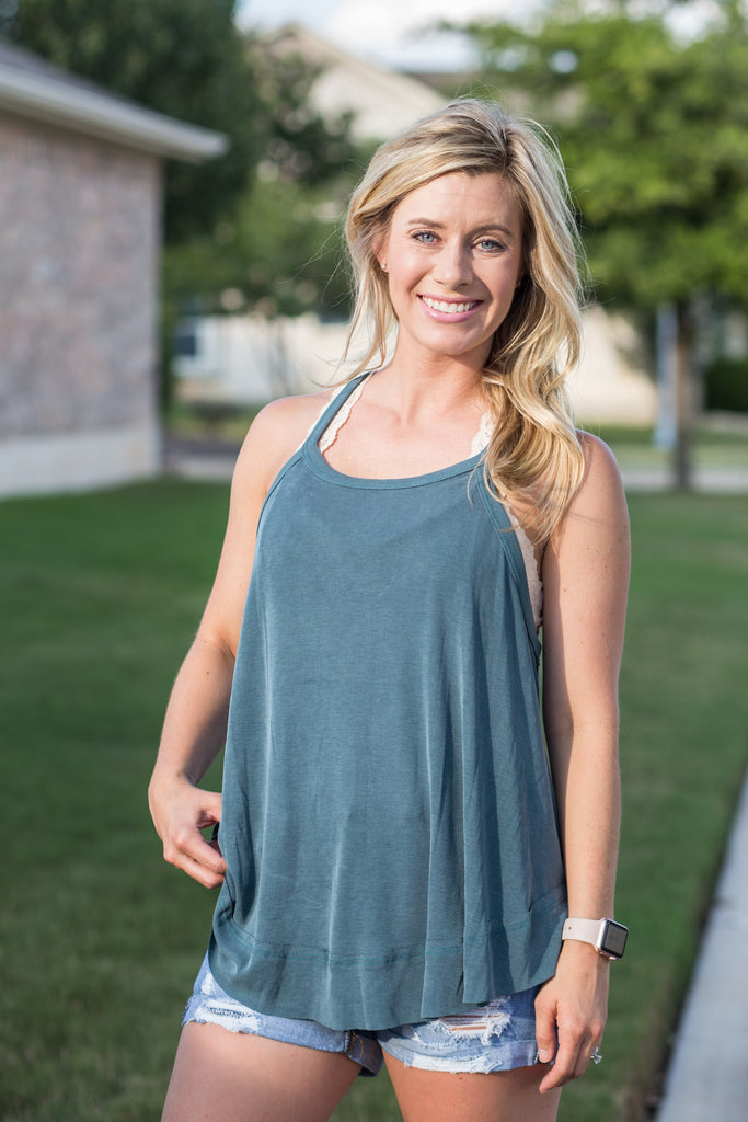 Cupro ribbed cami top keyhole back and reverse stich detail