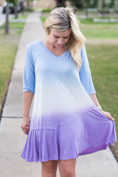 Ombre dye loose fit tunic/dress