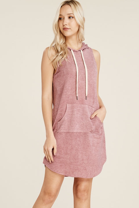 Rosy Hooded Dress