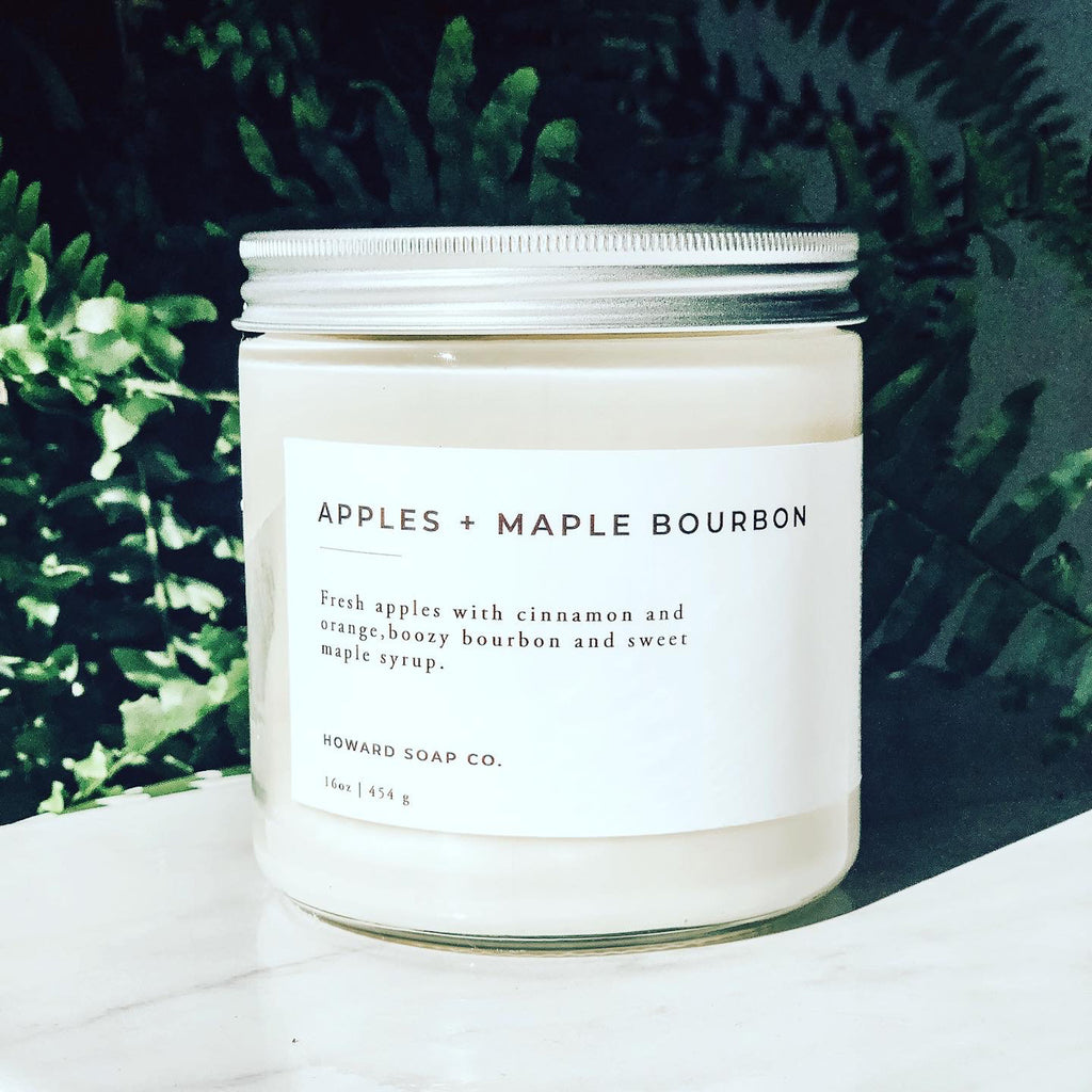 Apples + Maple Bourbon - Howard Soap Co. - Minnesota Made Herbal Skin Care + Candles
