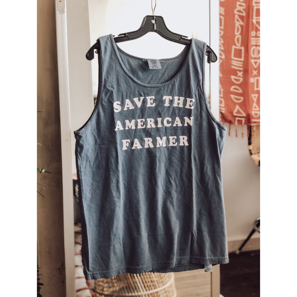 Save the American Farmer unisex tank - Howard Soap Co. - Minnesota Made Herbal Skin Care + Candles