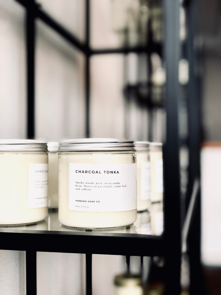 Charcoal Tonka - Howard Soap Co. - Minnesota Made Herbal Skin Care + Candles