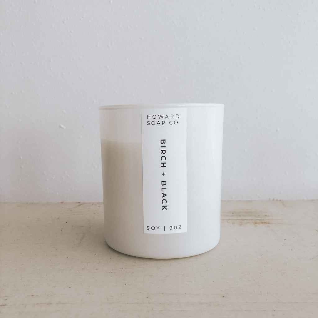 Birch + Black - Howard Soap Co. - Minnesota Made Herbal Skin Care + Candles