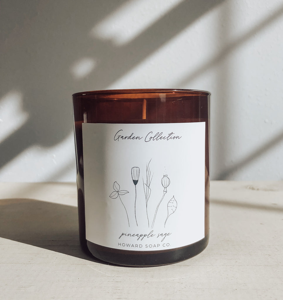 Garden Collection Candles - Howard Soap Co. - Minnesota Made Herbal Skin Care + Candles