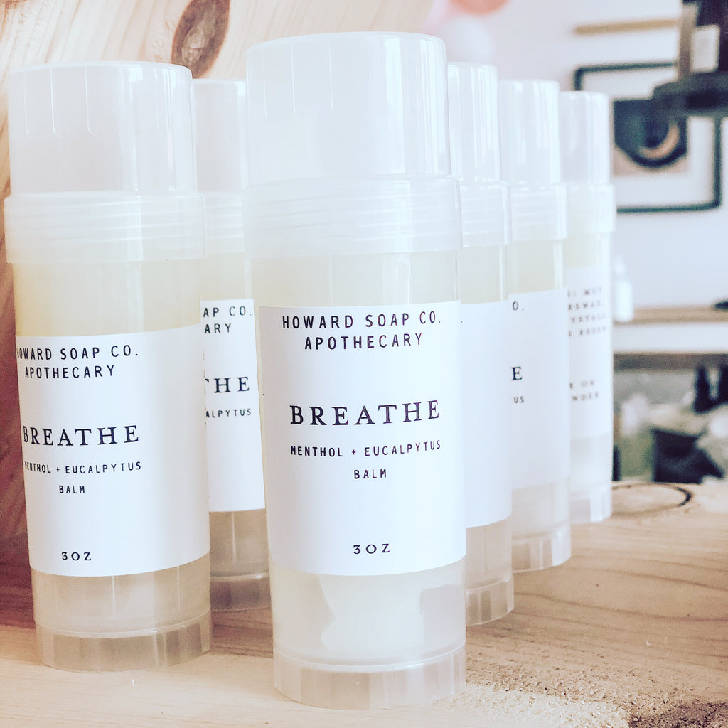 Breathe Menthol + Eucalyptus Balm - Howard Soap Co. - Minnesota Made Herbal Skin Care + Candles