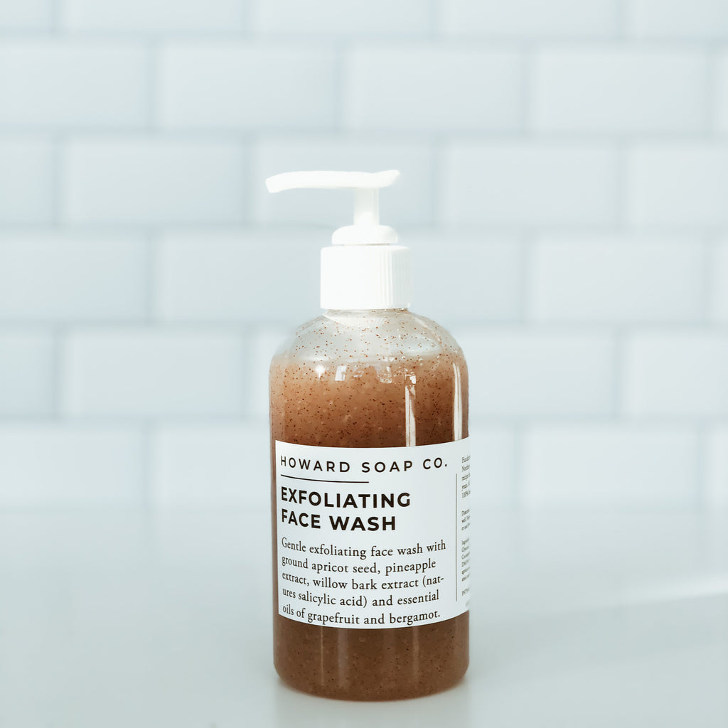 Exfoliating Face Wash - Howard Soap Co. - Minnesota Made Herbal Skin Care + Candles
