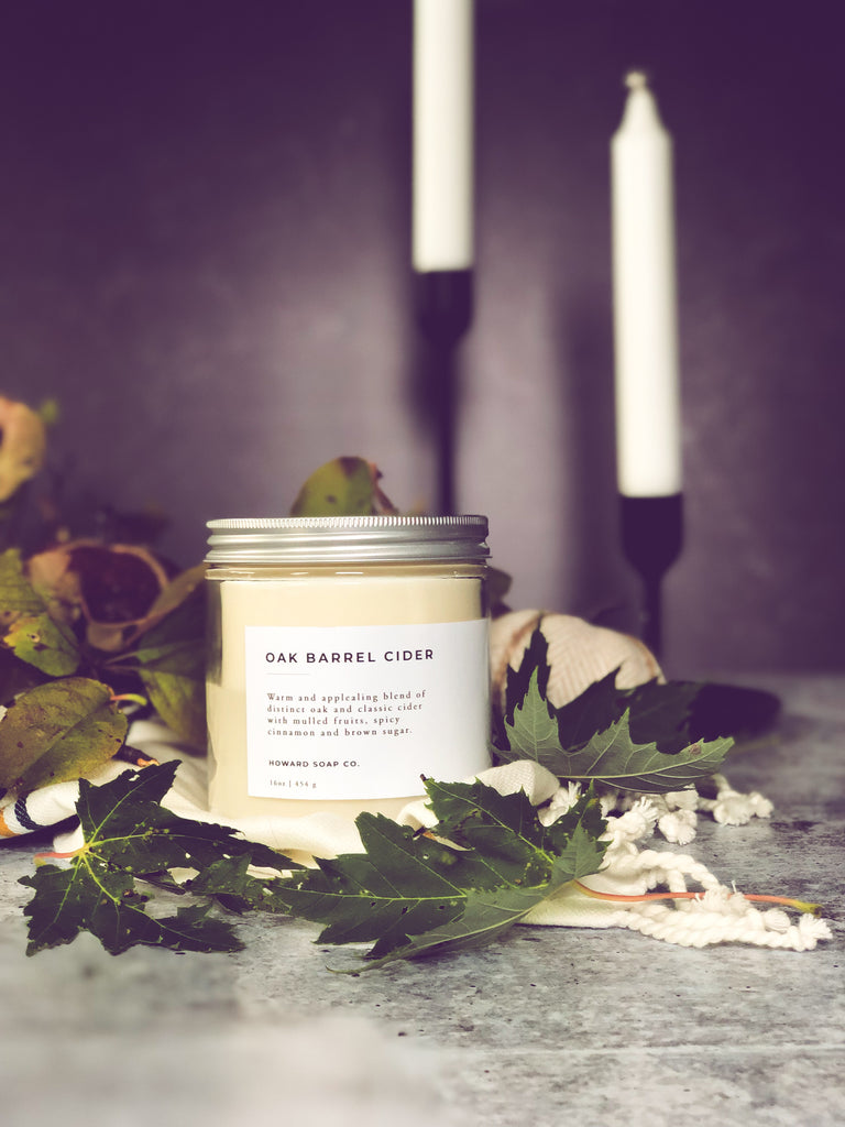 Oak Barrel Cider - Howard Soap Co. - Minnesota Made Herbal Skin Care + Candles