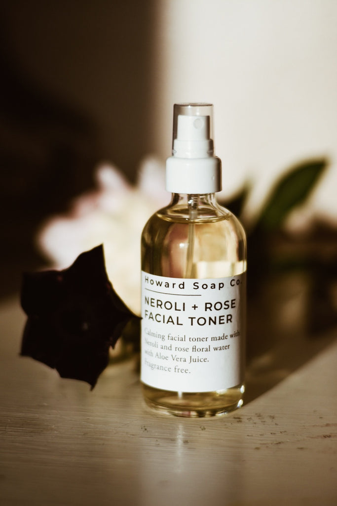 Neroli + Rose Calming Facial Toner - Howard Soap Co. - Minnesota Made Herbal Skin Care + Candles