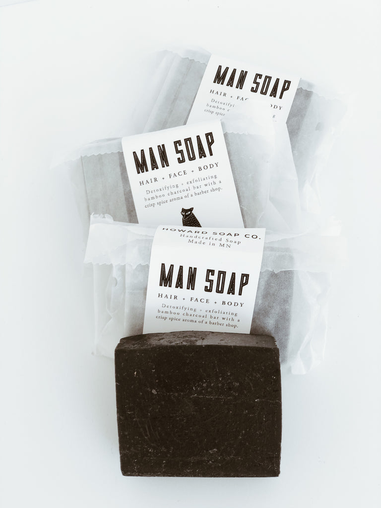 Man Soap - Howard Soap Co. - Minnesota Made Herbal Skin Care + Candles