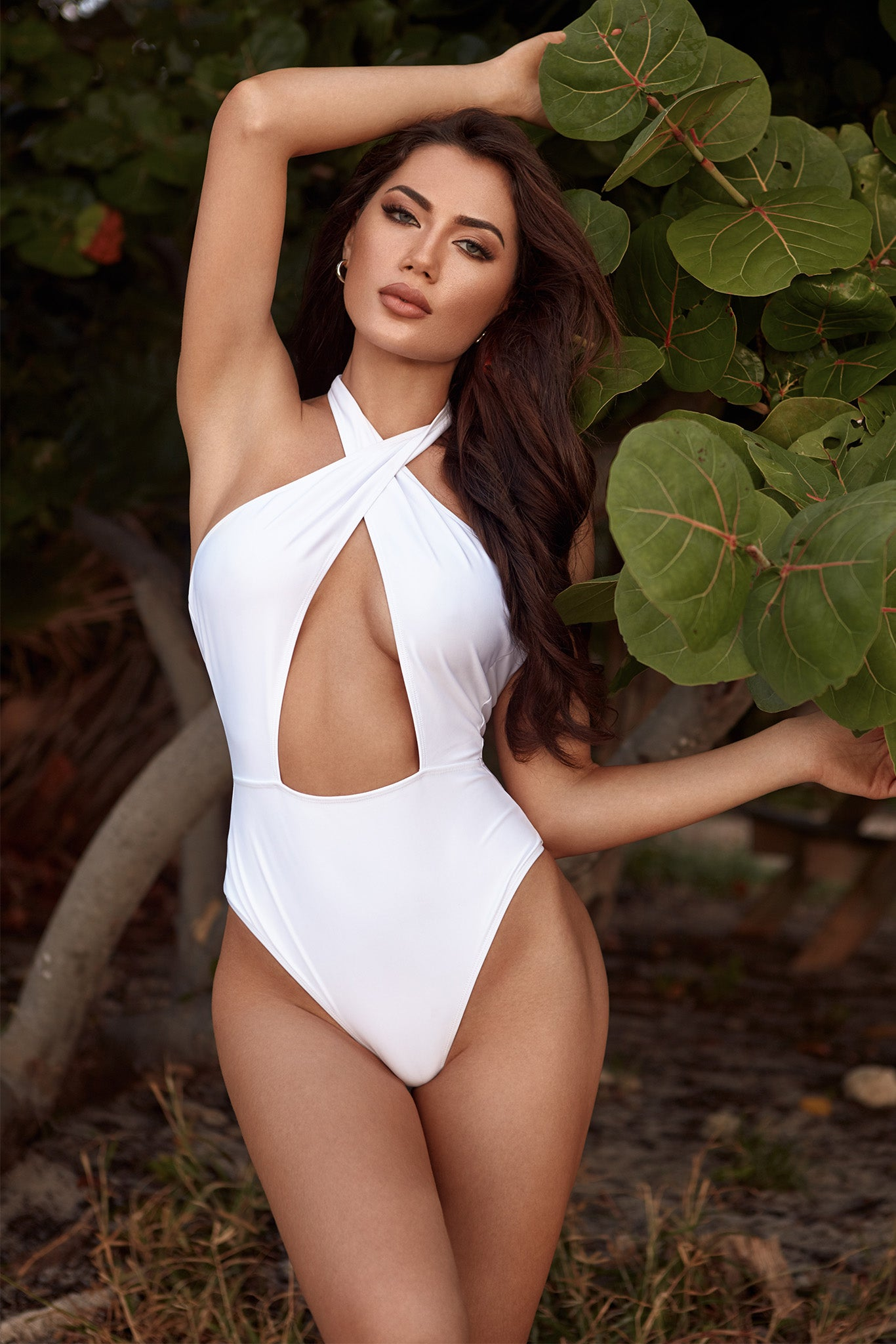Setai Swimsuit - White - Lifestyle 1
