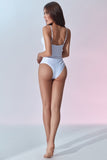 Fontainebleau Swimsuit - White - Back