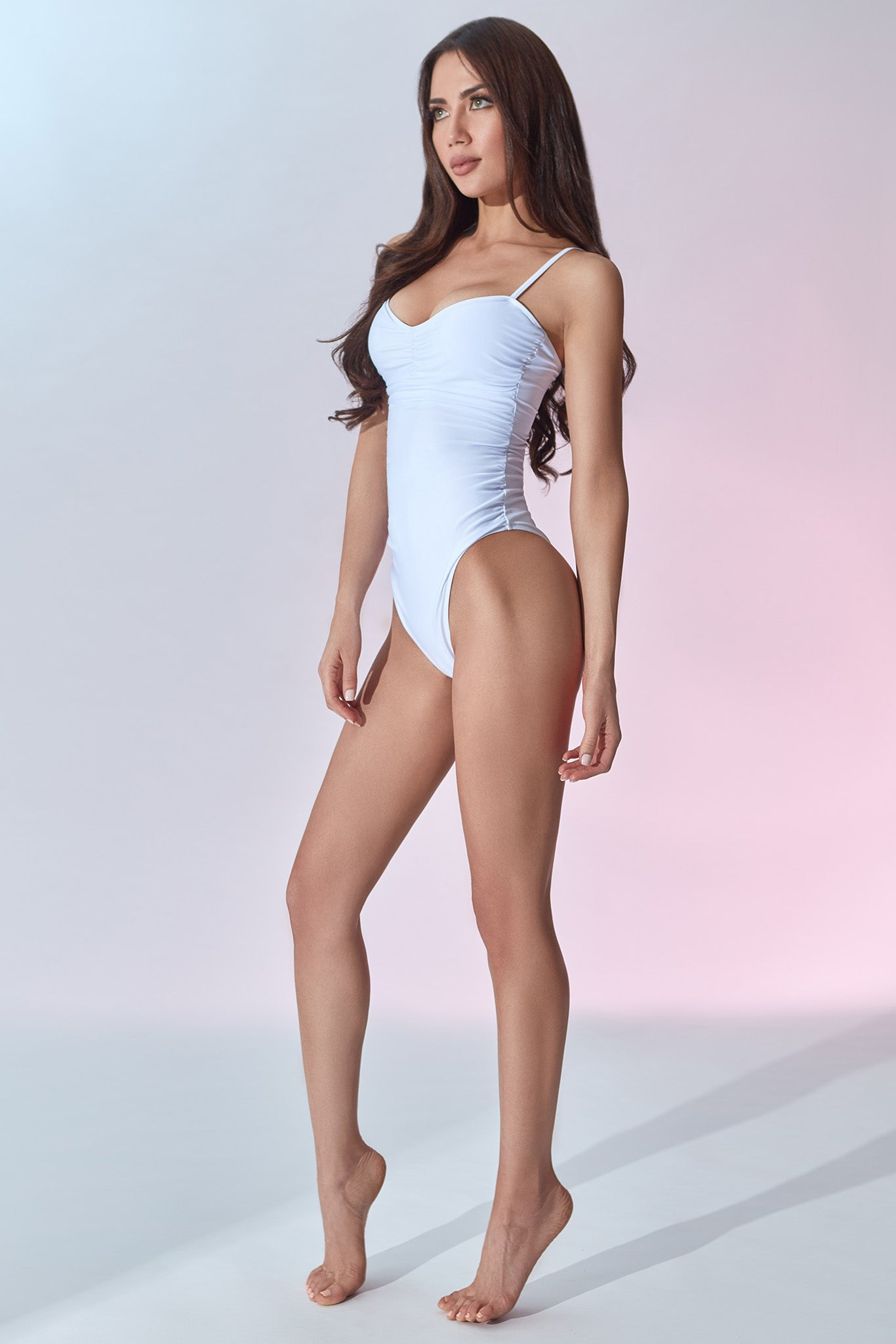 Fontainebleau Swimsuit - White - Side
