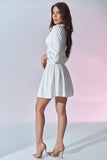 Madeleine Dress - White - Side