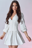 Madeleine Dress - White - Front