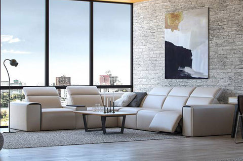 Le Mans Leather Motion Sectional