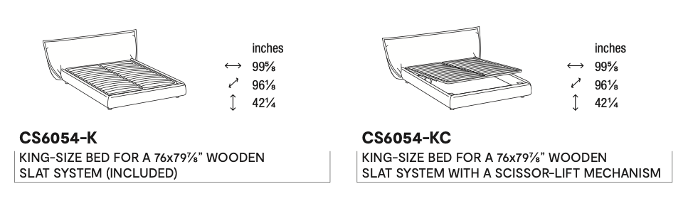 Calligaris Softly King Bed Dimensions