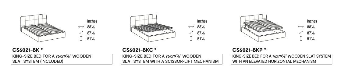 Calligaris Swami King Bed Dimensions