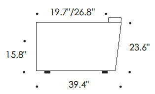 Eilersen Slope Sofa Dimensions