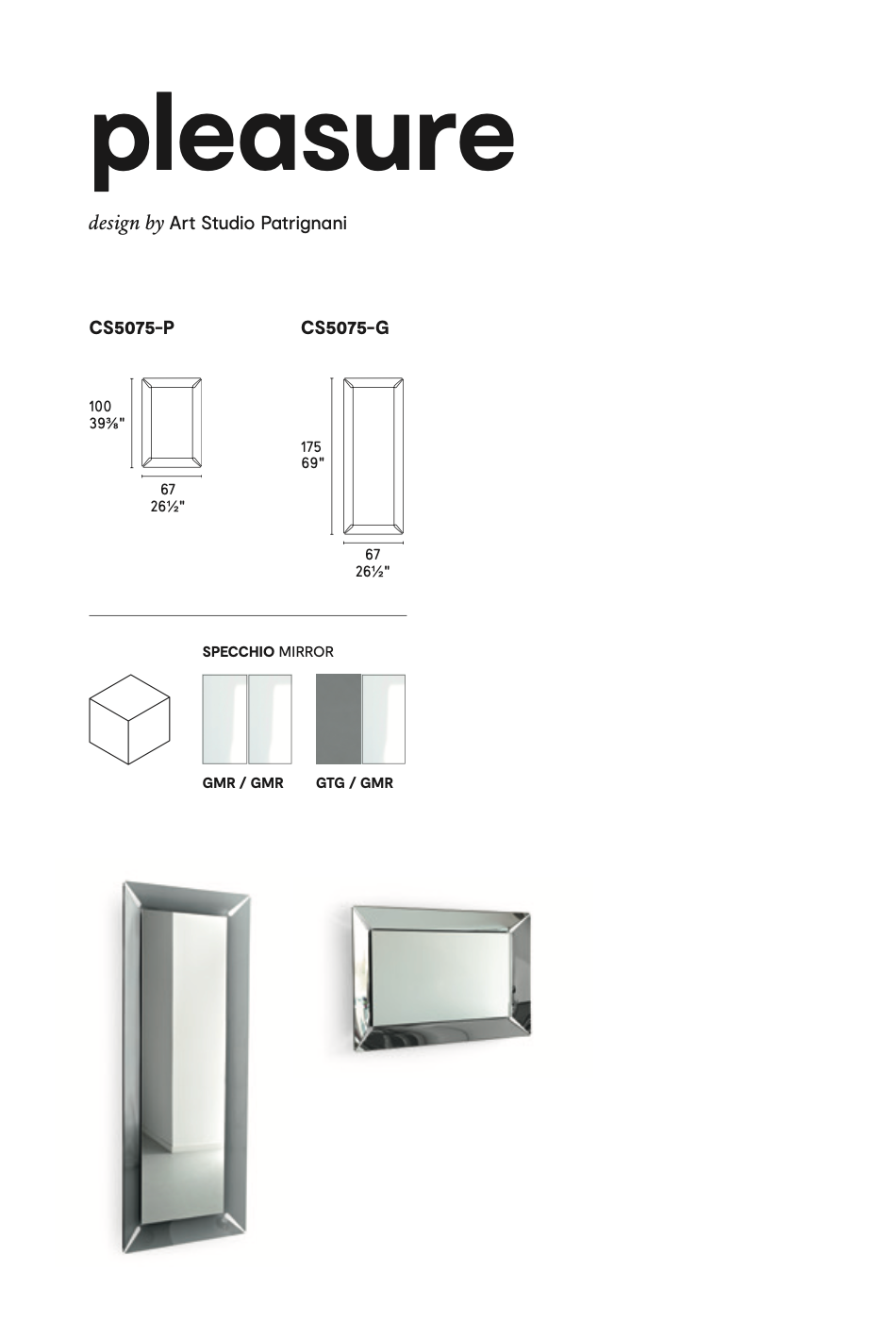 Calligaris Pleasure Mirrors