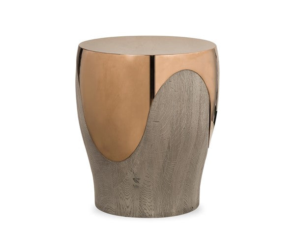 Bessie Rose Gold Side Table Resource Decor
