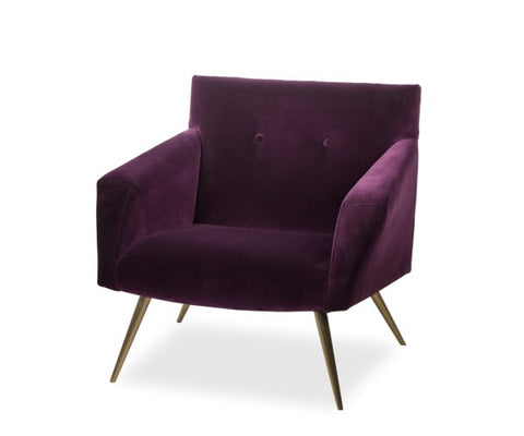 Kelly Occasional Vadit Deep Purple Chair