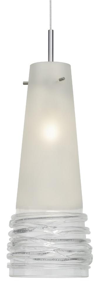 Fili Satin / Clear Pendant Light