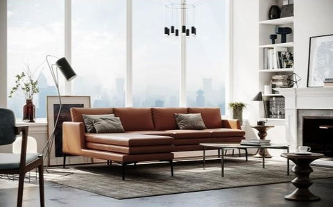 Model 439 Rica Leather Sofa Set