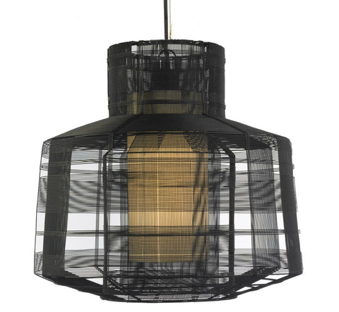 Busy Black Pendant Light