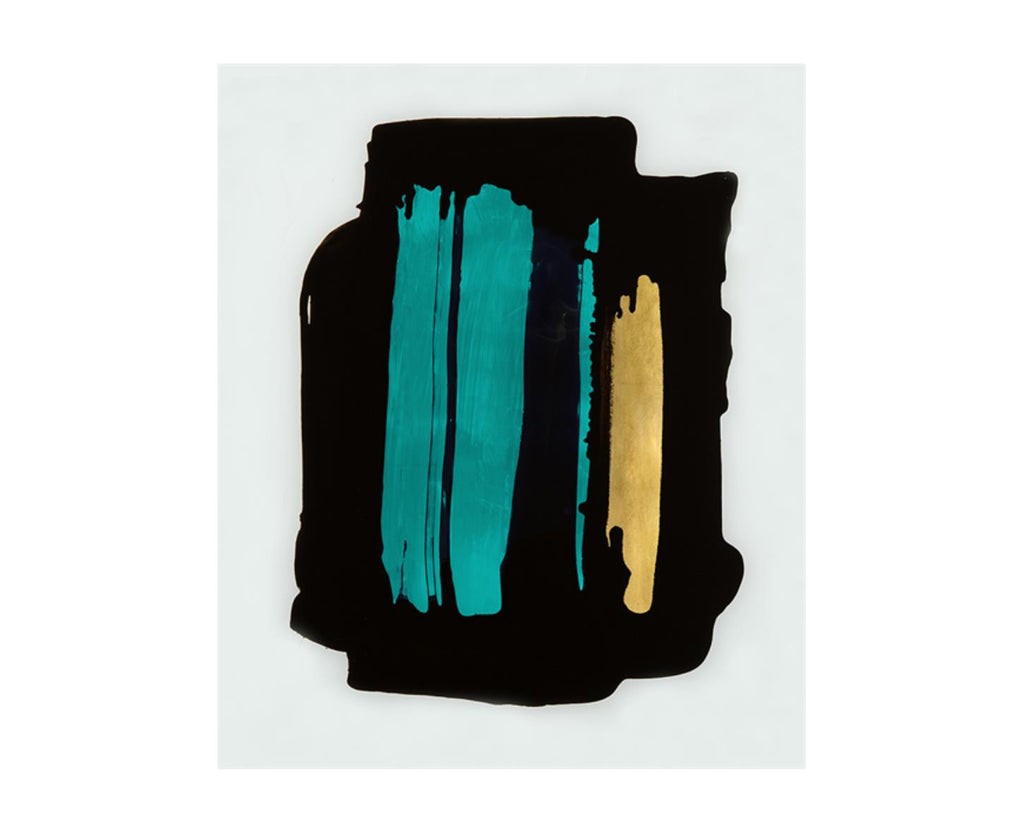 52DS0110 Teal Brushstroke with Gold