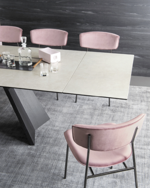CS4114-R 160 63in to 94.5in Icaro Extension Dining Table
