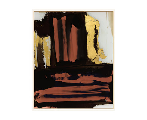 52DS0106-GFC Red Brushstroke with Gold Study