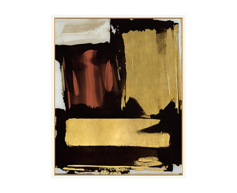 52DS0104-GFC Gold Brushstroke with Red Study