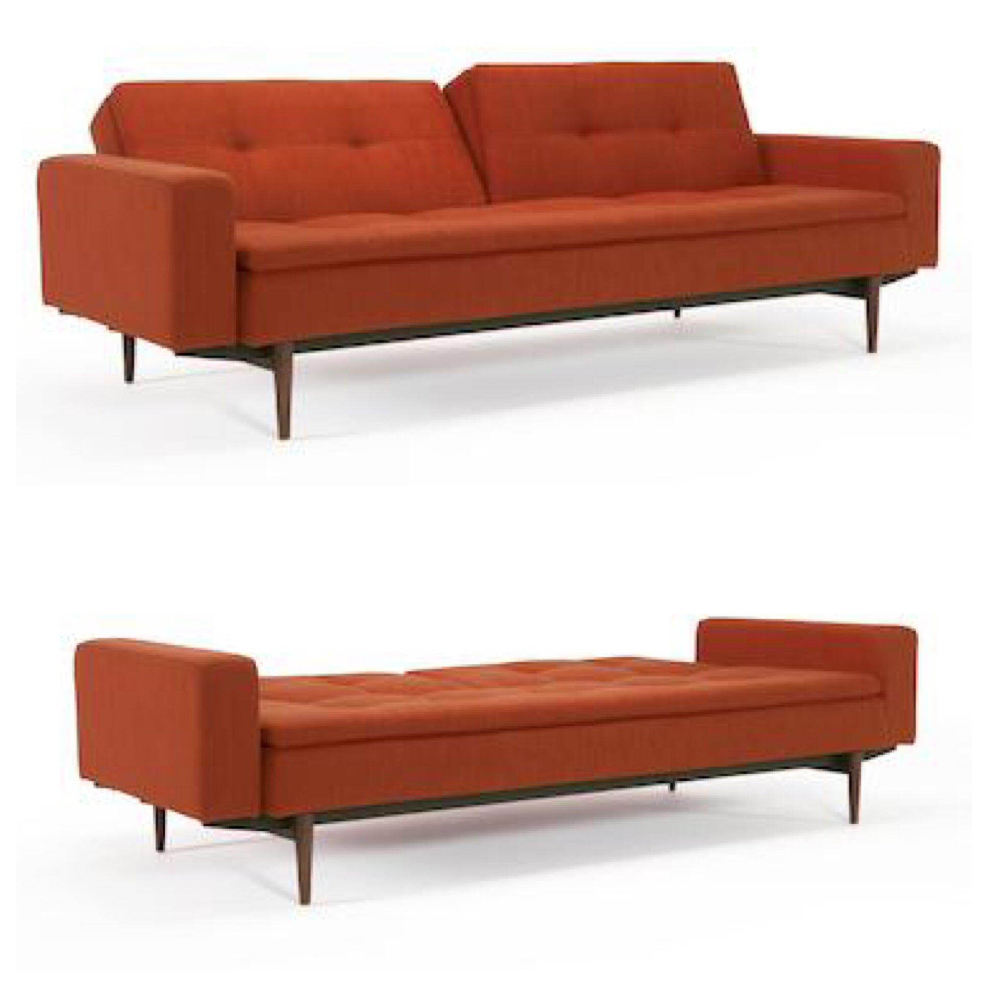 Dublexo Sleeper Sofa with Arms by Innovation at Trade Source Furniture