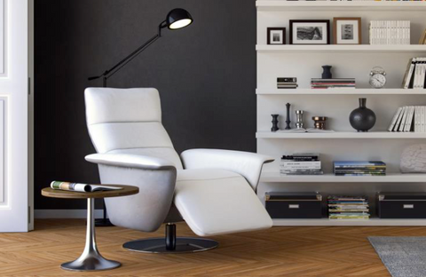 Model 279 Oslo Reclining Leather Swivel Chair