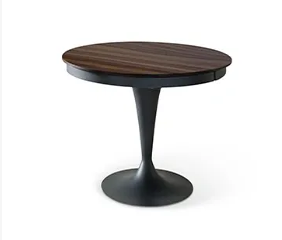 Eclipse Wood Round Extension Dining Table