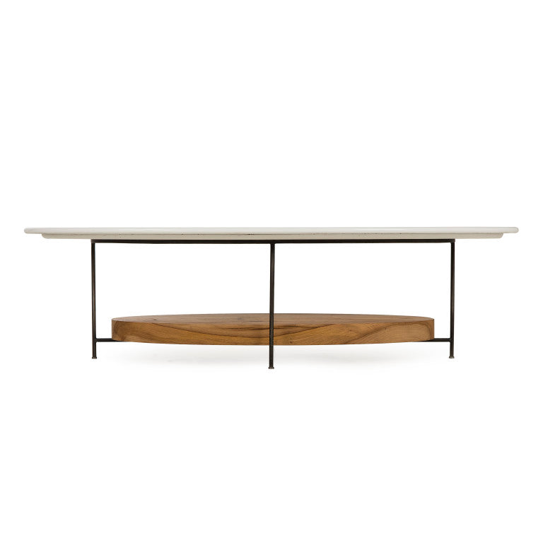 Olivia White Lacquer Coffee Table