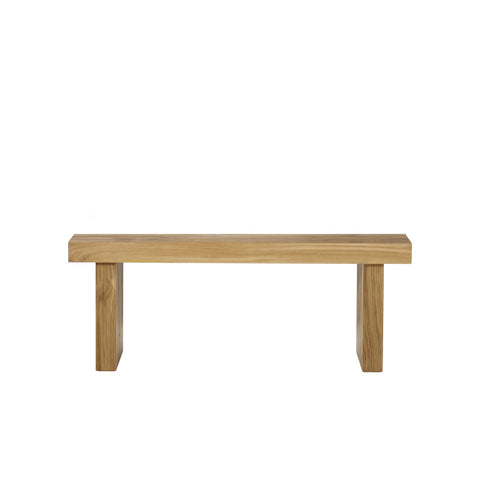 Emelia Bench - Small / Natural Oak without Seat Pad