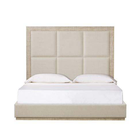 Raffles 6 Panel Queen Bed in Norman Ivory by Maison 55