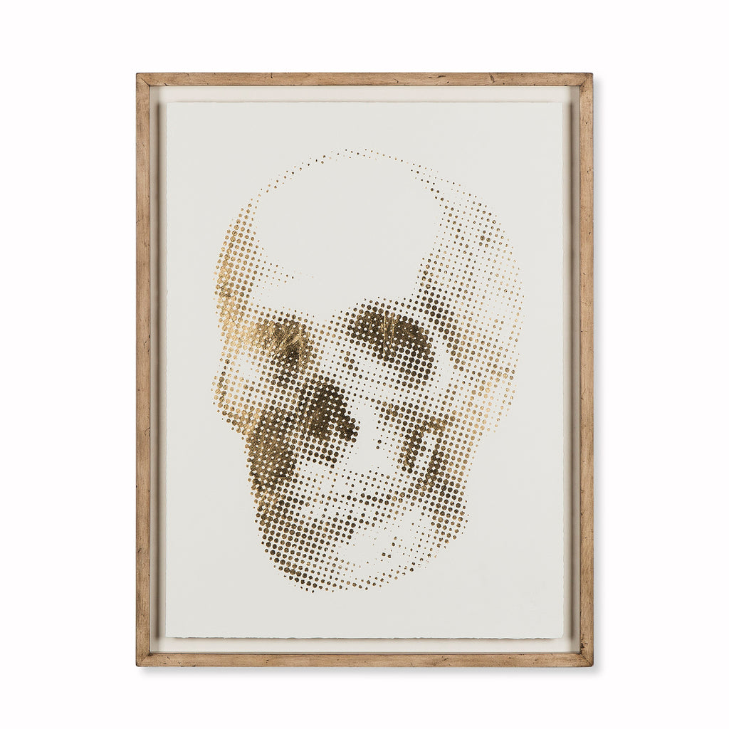 Gold Skeleton Skull