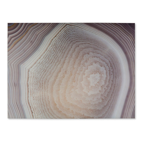 Art Print On Glass - Neutral Agate C
