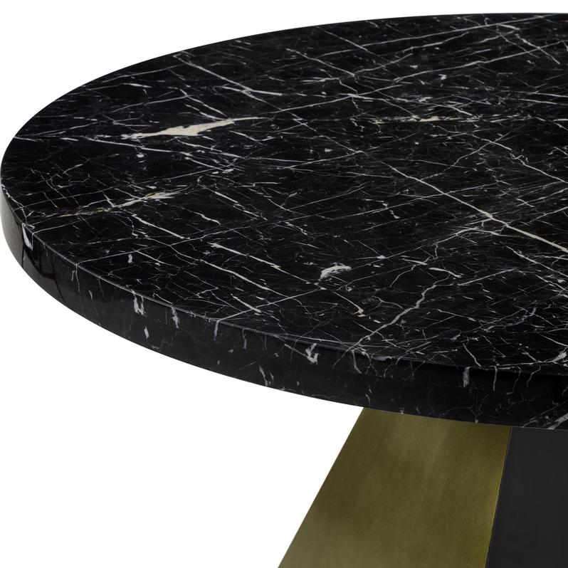 "60"" Round Louis Dining Table with Marble Top"