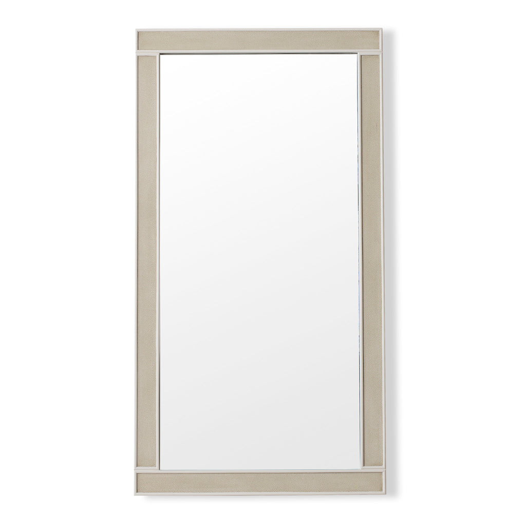 Alice Mirror Rectangle / Emboss Faux Shagreen / Ivory